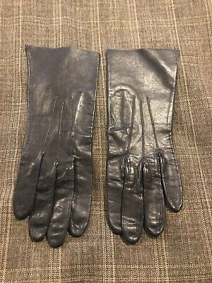 Pittard's Yeovil Gloves Navy Fine Leather