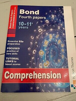 11 + Plus Bond Book Comprehension Fourth Papers Age 10-11 New