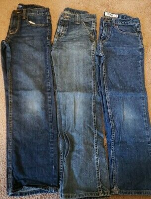 Lot Of 3 Pairs Of Boys Jeans, Size 10, EUC