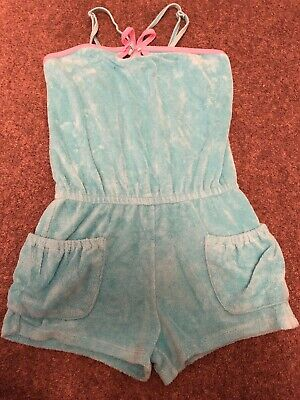 LG Kate Mack Age 8 Blue & Pink Towelling Holiday Summer Playsuit