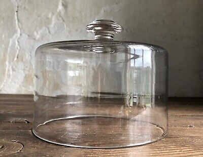 Antique French Glass Cheese Cloche / Cover / Dome. c1880.