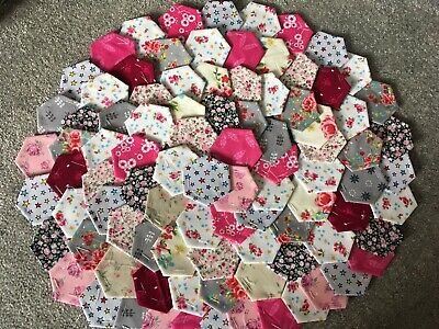 Brand New Ready Tacked Patchwork Hexagons X 100  100% Cotton