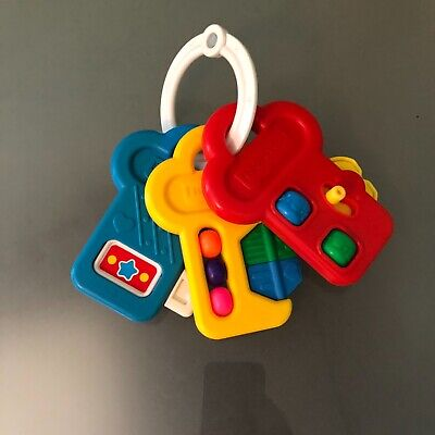 Vintage Fisher Price Activity Keys Key Baby Toy Rattle Spinner 1994 Used