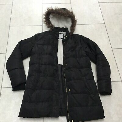 Girls Marks Spencer Thick Black Winter Coat. 13-14. A1