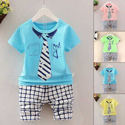 Clothes Outfit Tops+Shorts Printing Shirt Childs Kids Newborn Girls Toddlers