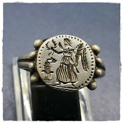 ** VICTORIA ** ancient MILITARY LEGIONARY SILVER Roman ring ! 8,60g