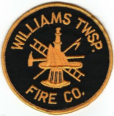 Williams Township Northampton County Pennsylvania Fire Company Department Patch