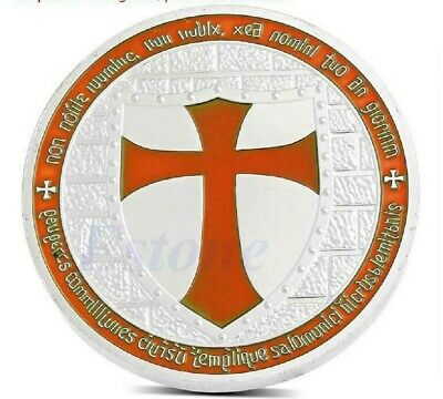 Cross Crusader Knights Templar Silver Commemorative Coin Art Collection