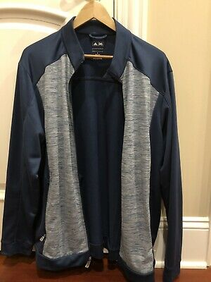 New Adidas Golf Puremotion Full Zip Mens Size Large Navy