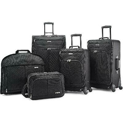 5-Piece Spinner Luggage Set Travel Wheel Upright Garment Boarding Bag Softside