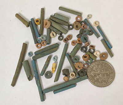 Three Grams 2500 Year old Ancient Egyptian Faience Mummy Beads Lot (#L1368)