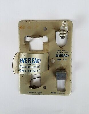 Vintage Eveready Flashlight Battery Tester Model 131, from 1950's