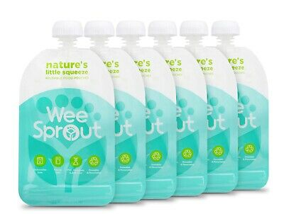 *BRAND NEW*  6 Pack Weesprout Reusable Food Pouches 5oz