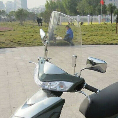 Motorcycle Windscreen Clear Scratch Resistant Wind Deflectors Scooter Windshield