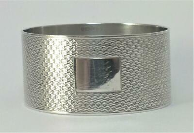 Vintage hallmarked Sterling Silver Napkin Ring (not inscribed) – 1937 (1)
