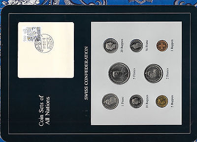 Coin Sets of All Nations Switzerland 1981-1983 UNC 1/2, 1, 5 Francs 1982