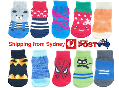 Dog Socks Non-Slip Anti-Skid Puppy Cat Pet Indoor Shoes S M L XL Sizes Available