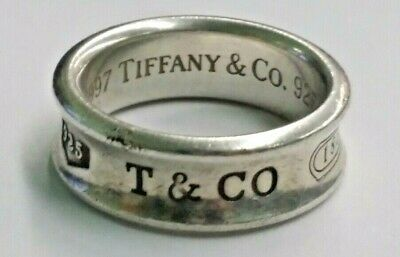 Authentic Tiffany & Co. 1837 Sterling Silver Ring Size 6.5, No Reserve