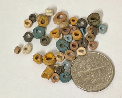 One Gram 2500 Year old Ancient Egyptian Faience Mummy Beads Lot (#L1371)