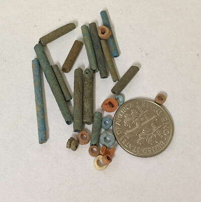 One Gram 2500 Year old Ancient Egyptian Faience Mummy Beads Lot (#L1375)