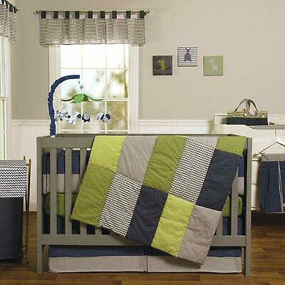 Trend Lab Baby Crib Bedding Set Perfectly Preppy Quilt Skirt Fitted Sheet