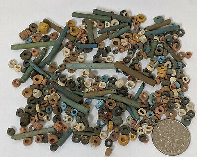 TEN Grams 2500 Year old Ancient Egyptian Faience Mummy Beads Lot (#M700)