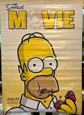 The Simpsons Movie     Original Movie Banner      Free Shipping!!