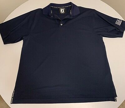 FootJoy Prodry Pique Mens Golf Polo Short Sleeve Shirt Navy Blue FJ Large L