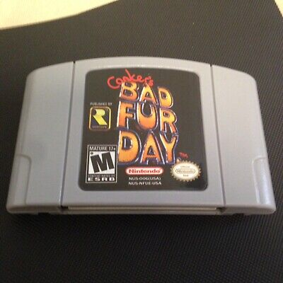 Conker's Bad Fur Day, Action Adventure RPG for The Nintendo 64! + Quick Shipping