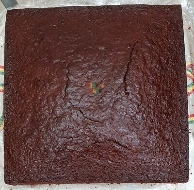 12inch Square Jamaican Rum Fruit Cake (blended fruits)