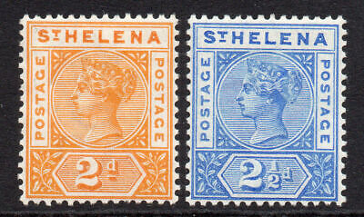 St Helena 2 Stamps c1890-97 Mounted Mint