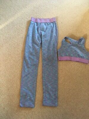Girls Matalan Soluxe Leggings And Crop Top Age 10-11