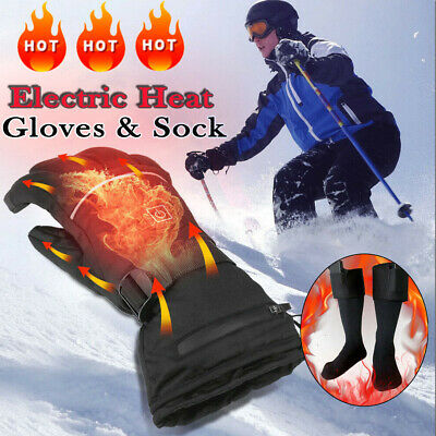 CA Electric Heated Socks & Gloves Rechargeable Battery Heated Feet Hands Warmer