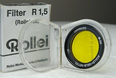 Rollei 35 Filter R 1,5 Yellow 200 550 NKRKO Made in Germany Nuovo