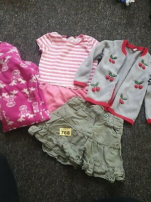 Girls 2 To 3 Years Clothes Bundle Plus All-in-one Pyjama