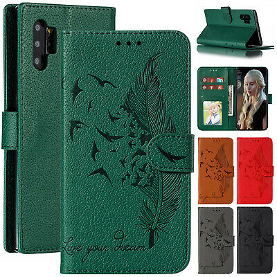 For Samsung Galaxy Note10 Plus S10e S9+ Cover Leather Magnetic Flip Wallet Case