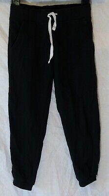 Girls George Black Drawstring Waist Cuffed Comfy Trousers Joggers Age 5-6 Years