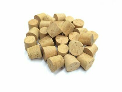 19mm Agba Tapered Wooden Plugs 100pcs