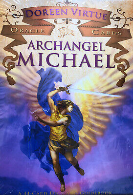 Archangel Michael Oracle Cards: A 44-Card Deck and Guidebook by Doreen Virtue.