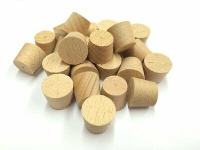 17mm Steamed Beech Tapered Wooden Plugs 100pcs