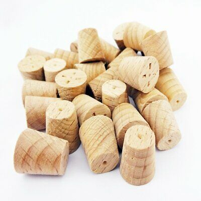 11mm Steamed Beech Tapered Wooden Plugs 100pcs