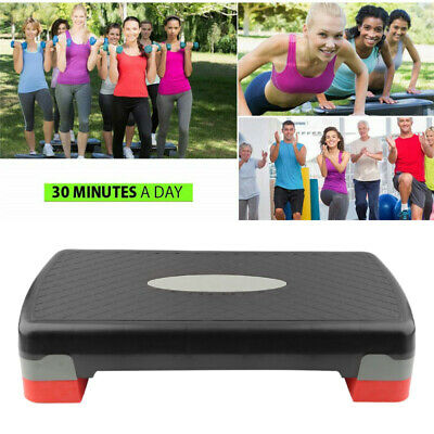 Aerobic Stepper 26″ Cardio Platform Fitness Step 4″- 6″ Workout Exercise Risers