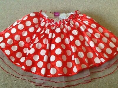 Disney At George One Size Girls Play Spotty Minnie Mouse Skirt