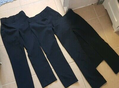 Girls age 5-6 Years NAVY BLUE school Trousers x 3 Pairs smart uniform bottoms