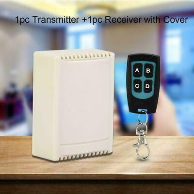Use 12V 4CH Relay Receiver RF Transmitter 433Mhz Wireless Remote Con A1Y9