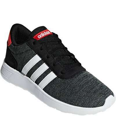 Adidas Lite Racer Boy's [ Core Black/Cloud White/Active Red ] Running - BF35530