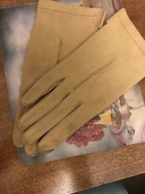 Beautiful Seude Vintage Womens Gloves