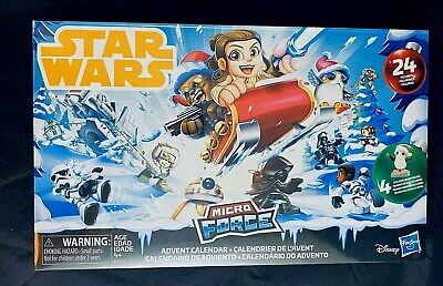 NEW Star Wars Micro Force Advent Calendar Christmas 24 Figures Disney Hasbro