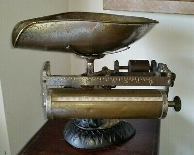 Antique Computing Scales Dayton OH Candy Coffee Tobacco Scale c.1894