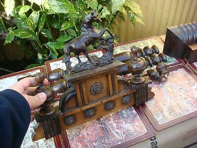 Vintage Top Display Fret & Parts For Wall Clock Wooden Case For Spare / Repair